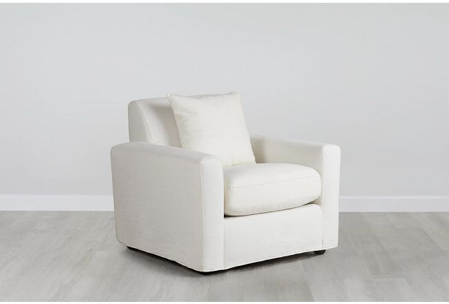 Bower Ivory Fabric Chair