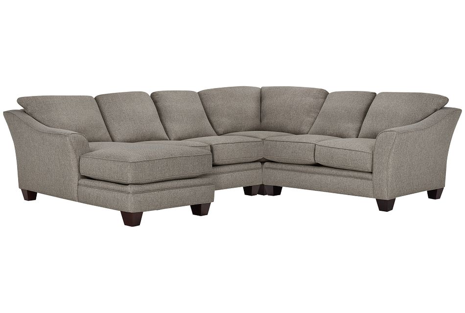 Avery Dark Gray Fabric Medium Left Chaise Sectional