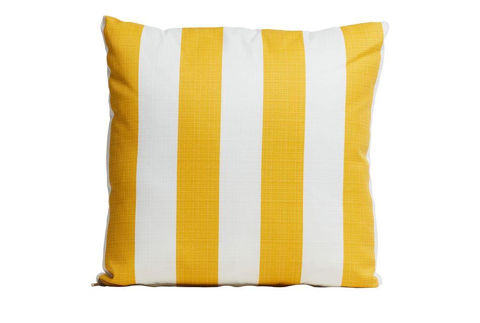 """Vertical Yellow 20"""" Indoor/outdoor Accent Pillow"""