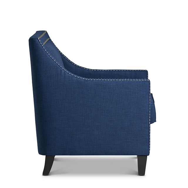 Erica Blue Fabric Accent Chair (2)