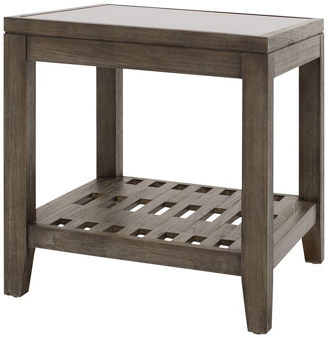 Bravo Dark Tone Square End Table (1)