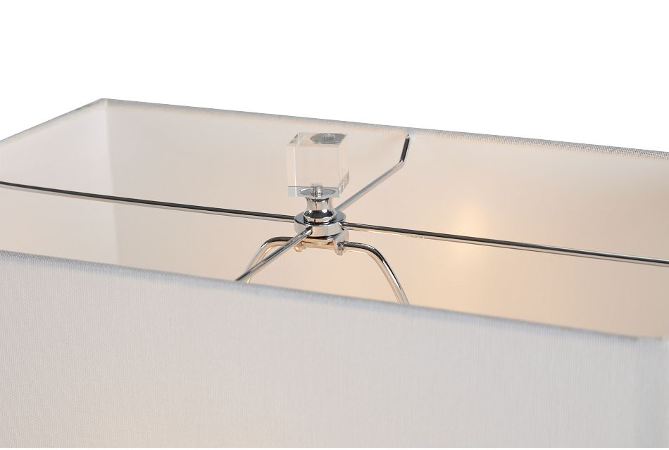 Iris Wood Polyresin Table Lamp