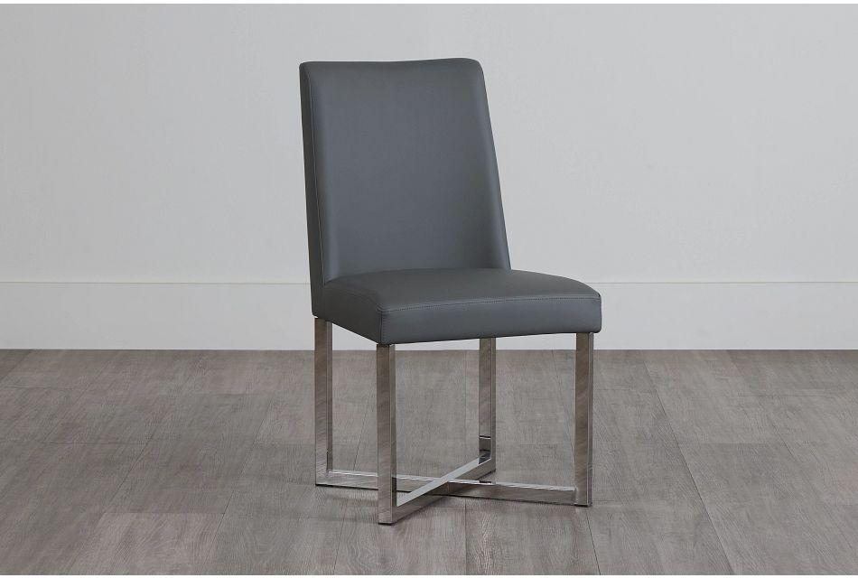 Howard Gray Upholstered Side Chair,  (0)
