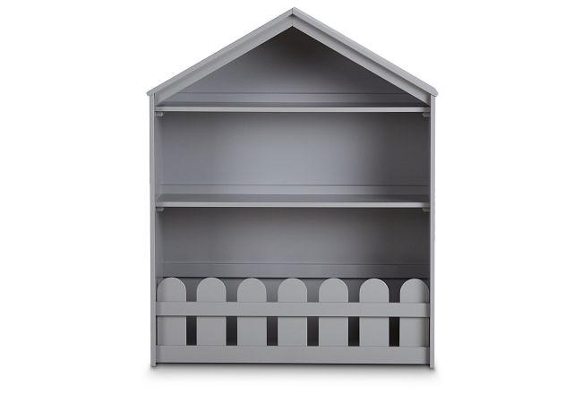 Happy Home Gray Storage Bookcase
