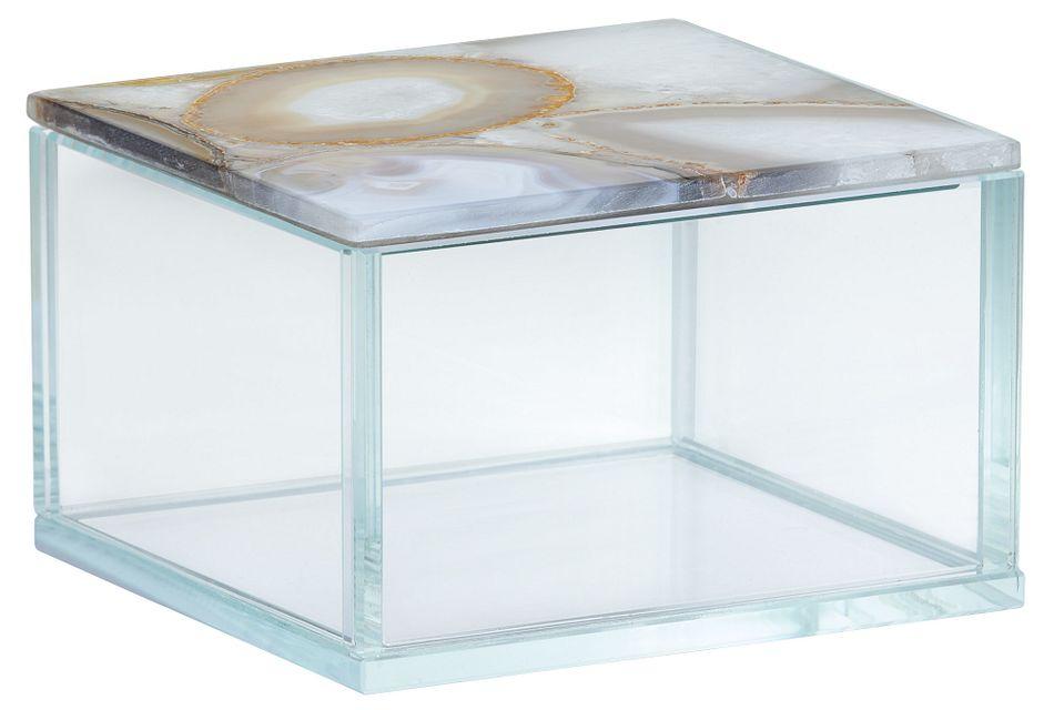Agate Beige Glass Box