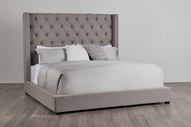 Lacey Gray Uph Platform Bed (0)