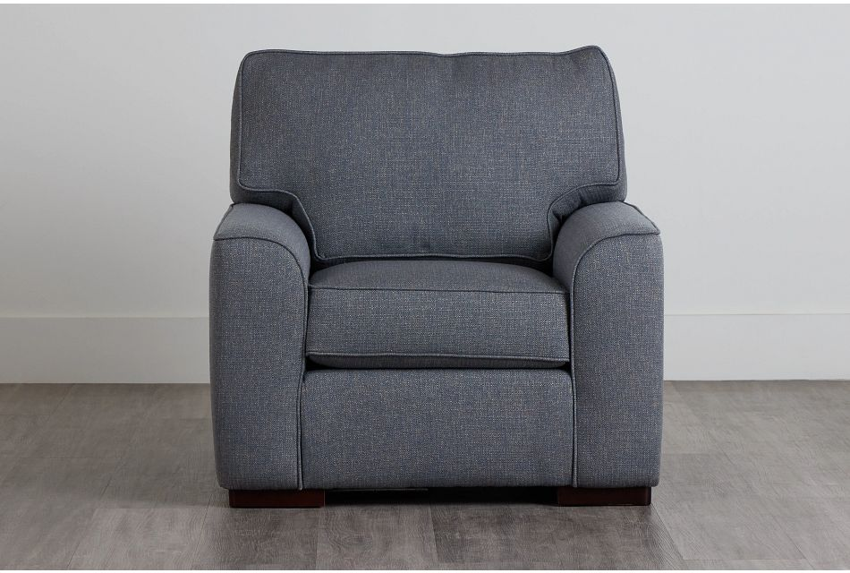 Austin Blue Fabric Chair,  (0)