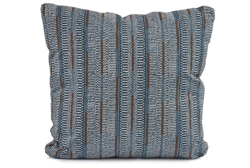 "Ashanti Blue 20"" Square Accent Pillow"