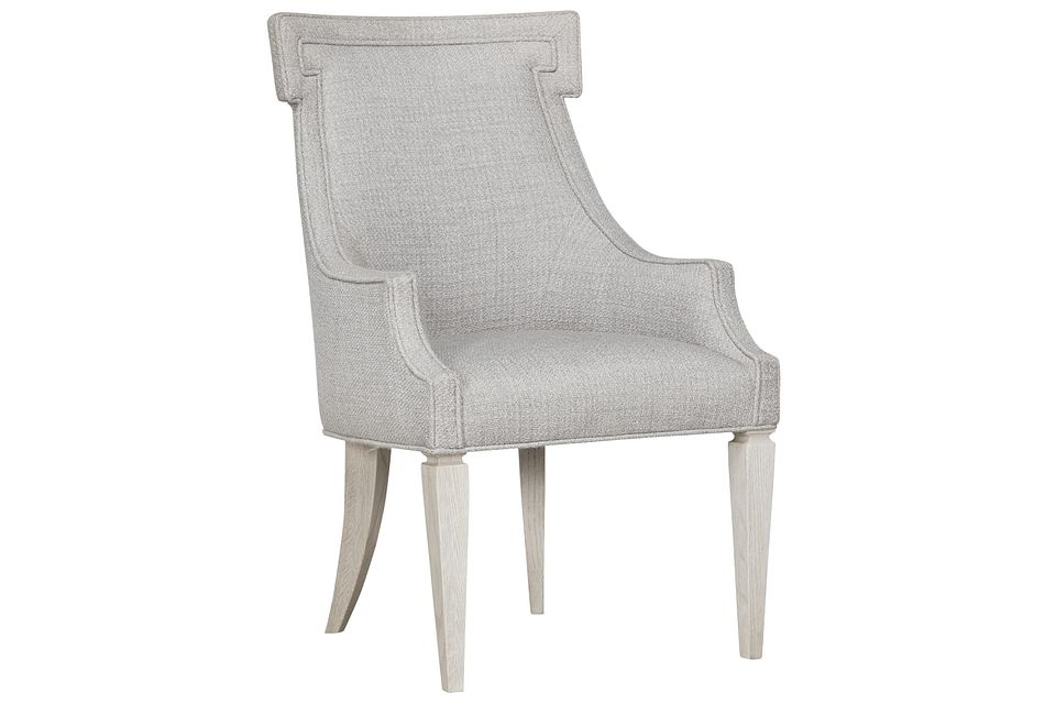 Domaine Light Taupe Upholstered Arm Chair