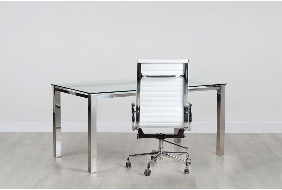 Skyline Glass Desk And Chair,  (0)