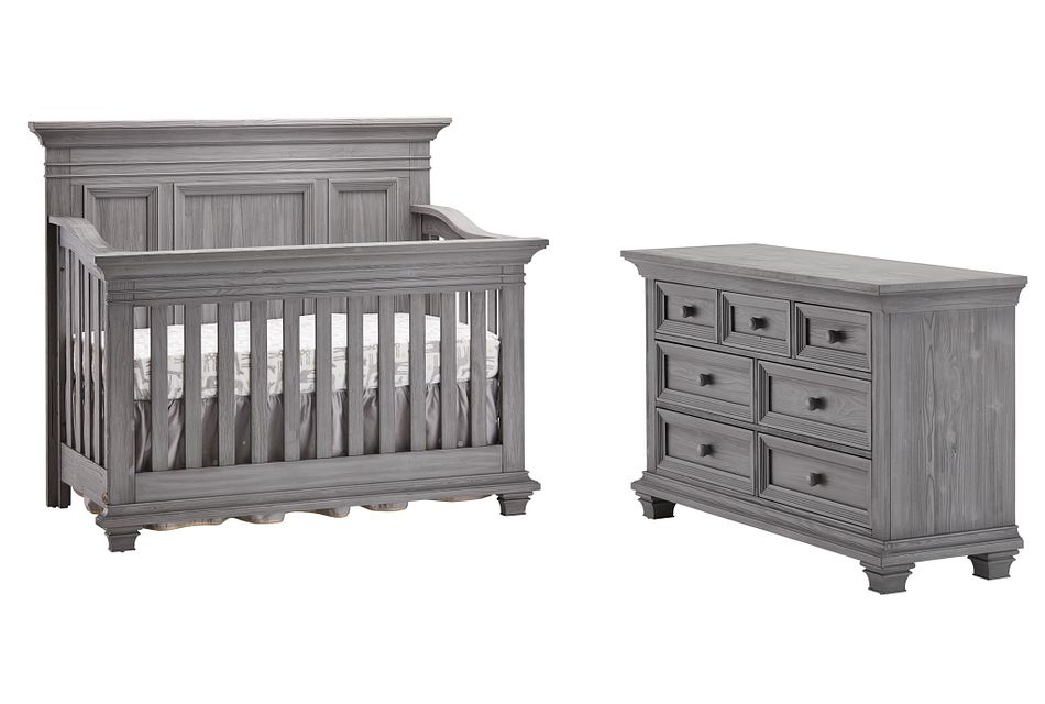 Westport Light Gray Crib Bedroom