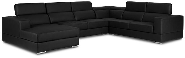 Maxwell Black Micro Large Left Chaise Sectional (2)
