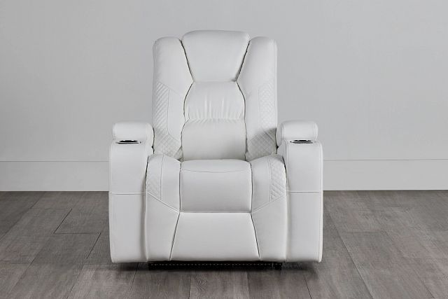 Troy White Micro Power Recliner With Power Lumbar (0)