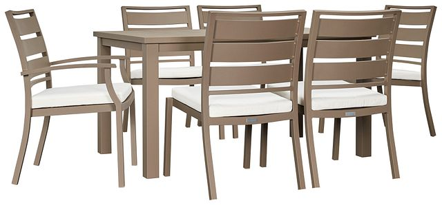 """Raleigh White 58"""" Rectangular Table & 4 Cushioned Chairs (0)"""