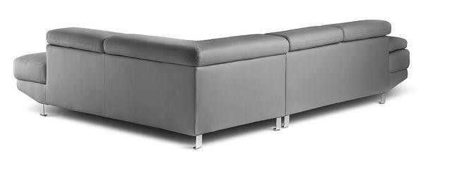 Zane Dark Gray Micro Right Chaise Sectional (3)