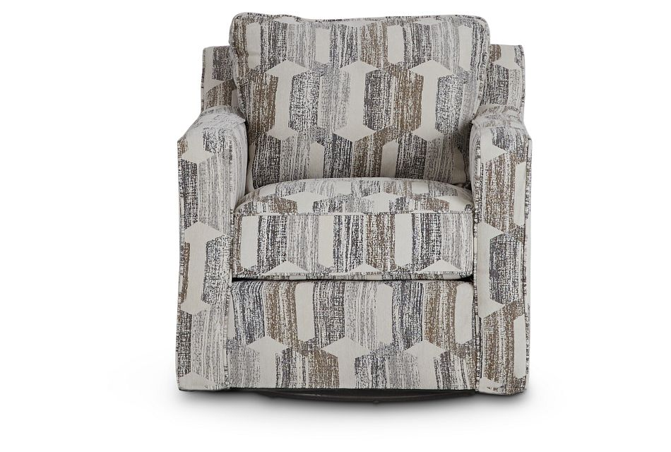 Millie Gray Fabric Swivel Accent Chair,  (3)
