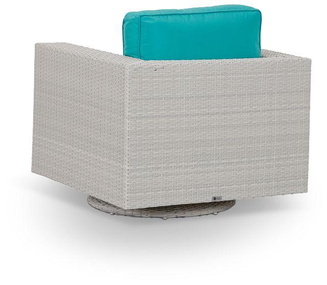 Biscayne Dark Teal Swivel Chair (3)