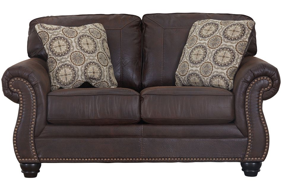 Breville Dark Brown Micro Loveseat