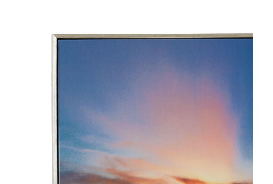 Dawn Orange Canvas Framed Wall Art,  (1)