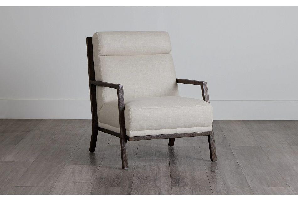 Brando Beige Fabric Accent Chair,  (0)