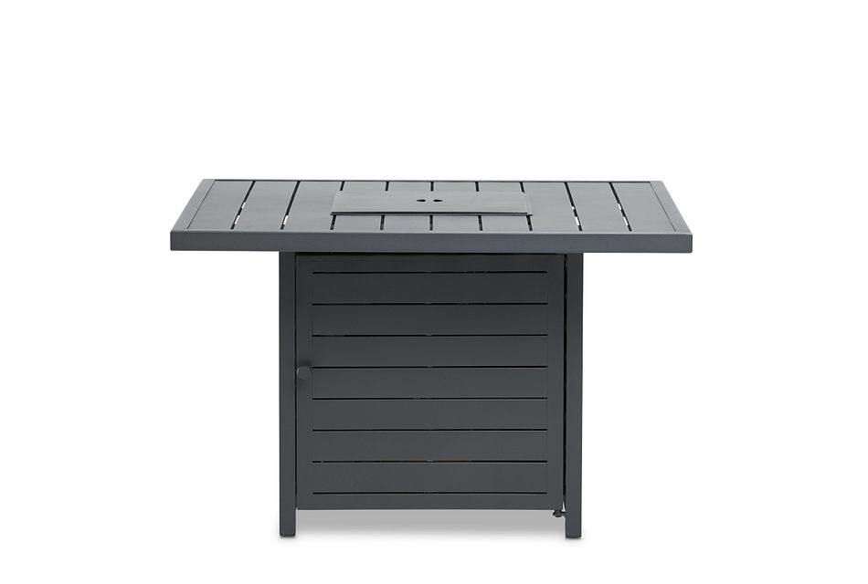 Linear Dark Gray Square Fire Pit