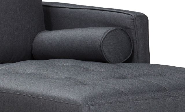 Rue Gray Fabric Right Chaise Sectional