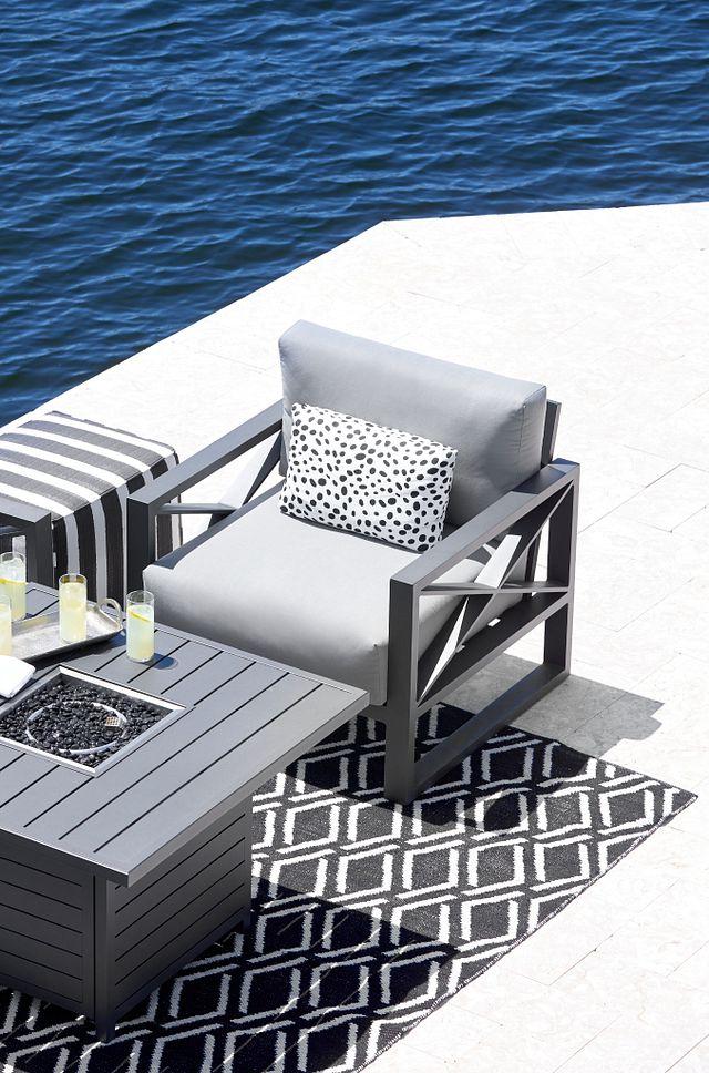 Linear Dark Gray Rocking Chair (0)