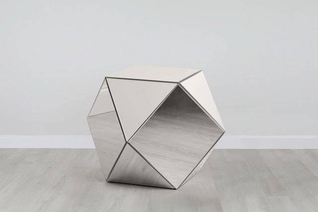 Geo Silver Small Accent Table (0)