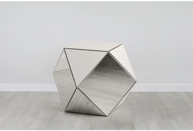 Geo Silver Small Accent Table