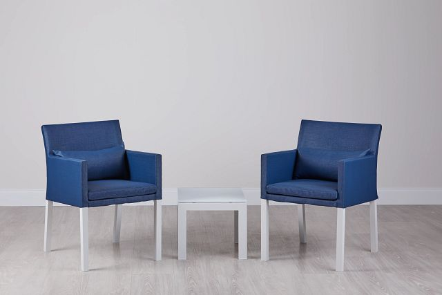 Lisbon Navy Cushioned Outdoor Chat Set (0)