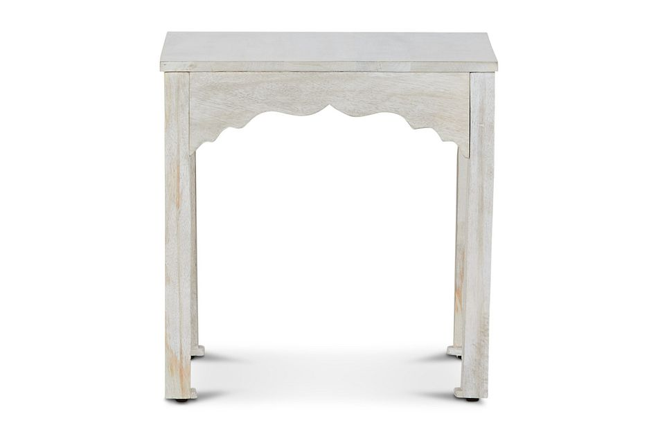 Stacey White Square End Table