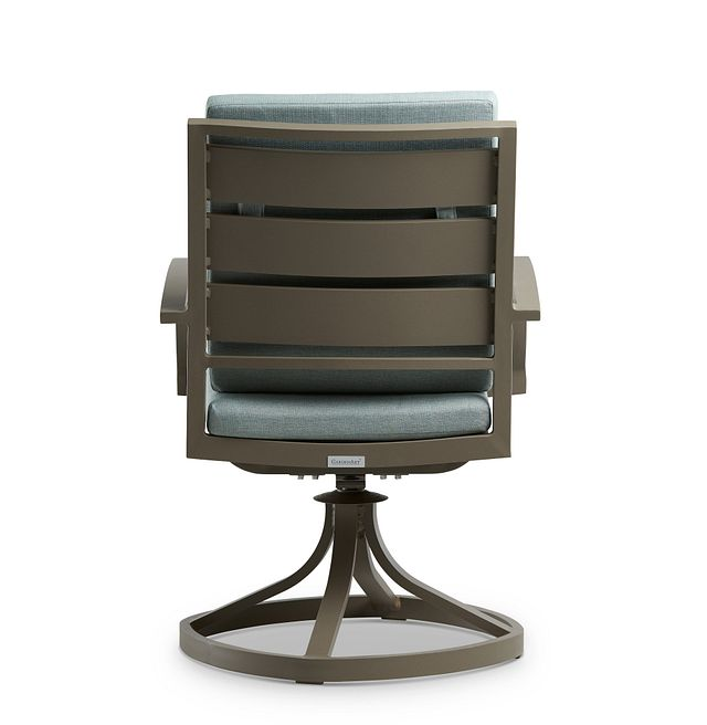 Raleigh Teal Swivel Arm Chair (3)
