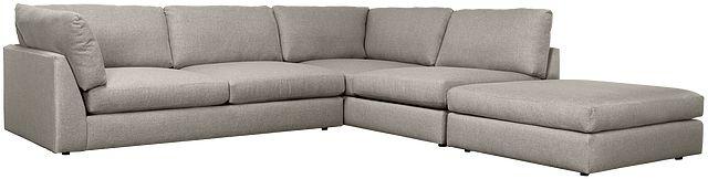 Harper Gray Fabric Right Bumper Sectional (0)