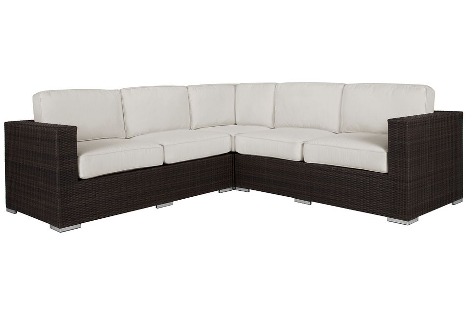 Fina White Small Two-Arm Sectional,