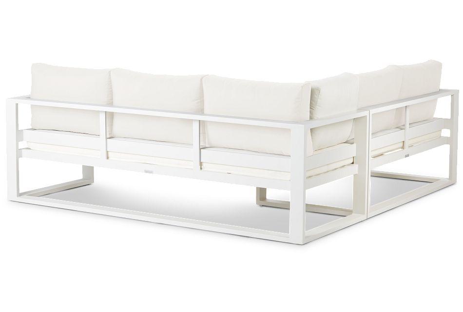 Lisbon White Aluminum Small Left Sectional