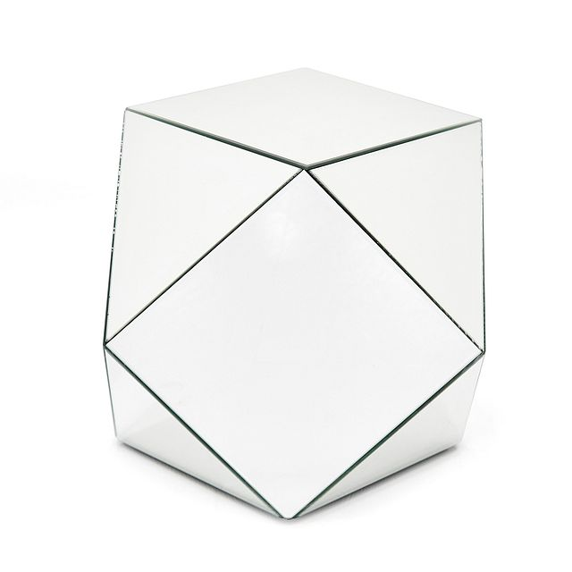 Geo Silver Small Accent Table (2)