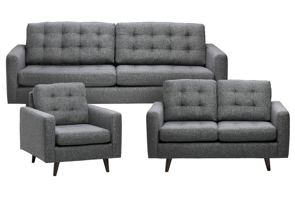Gwen Dark Gray Fabric Living Room