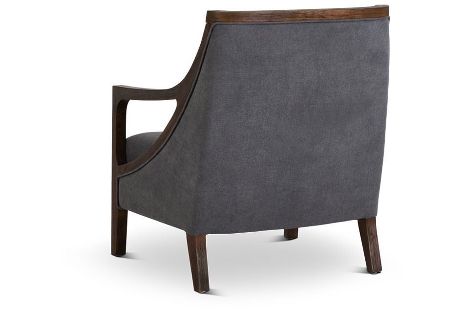 Hopkins Gray Fabric Accent Chair