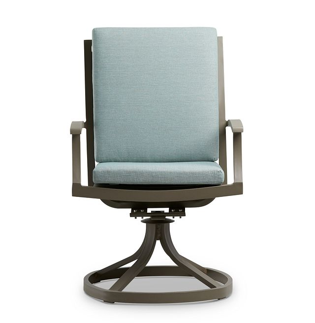Raleigh Teal Swivel Arm Chair (2)