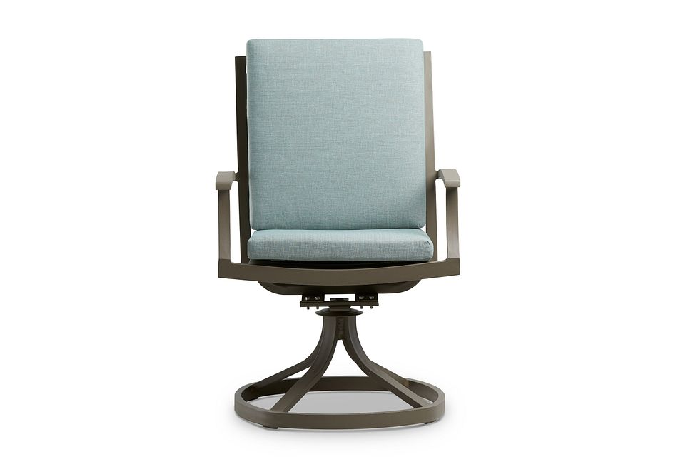 Raleigh Teal Swivel Arm Chair