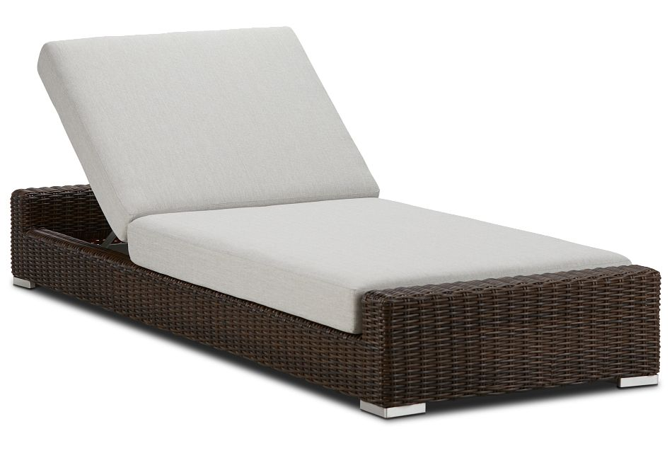 Southport Gray Woven Cushioned Chaise