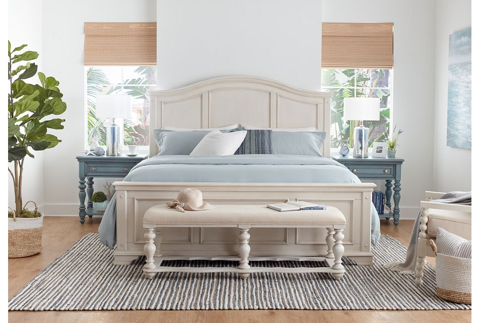 Savannah Ivory Panel Bed, King (3)