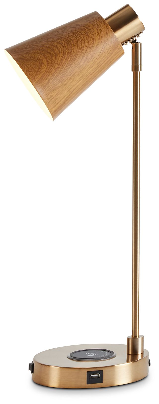 June Gold Wood Table Lamp (2)