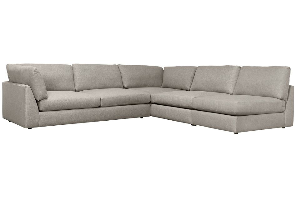 Harper Gray Fabric Large Left Arm Sectional