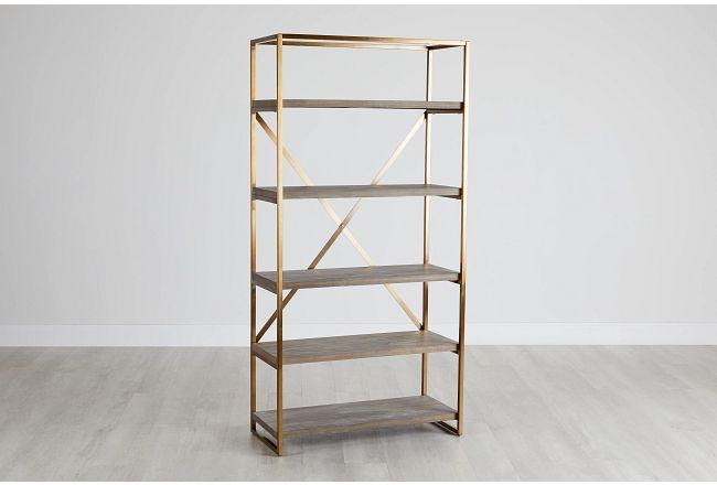 Dexter Brown Bookcase