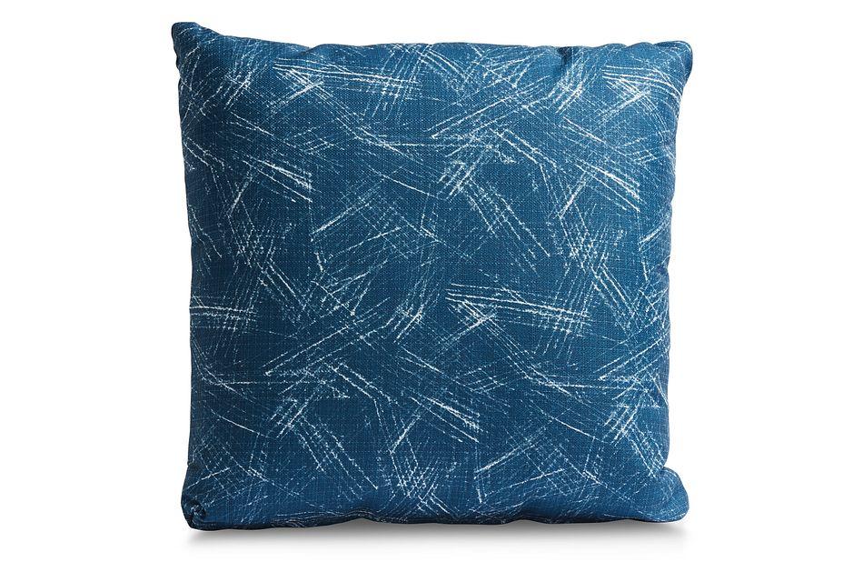 "Valletta Dark Blue 20"" Indoor/outdoor Accent Pillow"