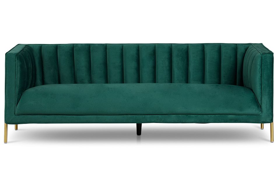 Bella Dark Green  Velvet Sofa,  (1)