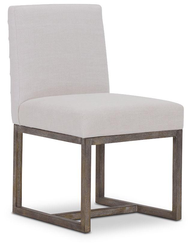 Berlin White Upholstered Side Chair (1)