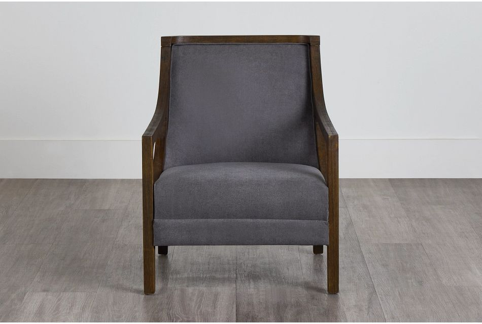 Hopkins Gray Fabric Accent Chair,  (0)