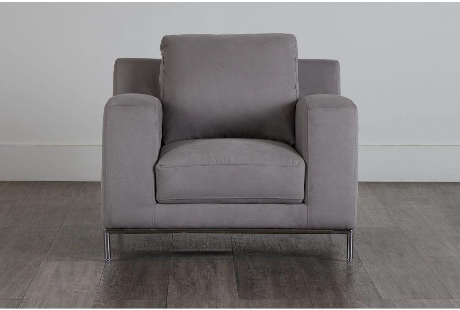 Wynn Light Gray Micro Chair,  (1)